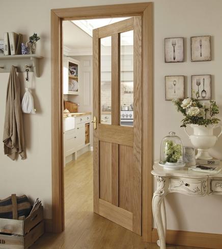 Half Glass Kitchen Doors